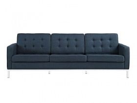 Sofa - Strong blue sofa with steel legs