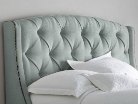 Headboard - Mint Green Tufted With Wings