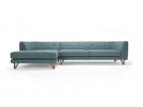 Mitchel - 3 seater sofa w/ chaiselong green