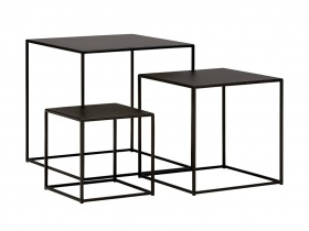 Hill Nesting Table L - Blackened Powder Coated