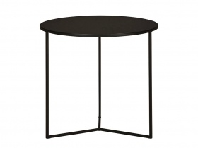 Hill Round Side Table - Blackened Powder Coated