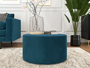 Round Coffee Table Galaxy Peacock