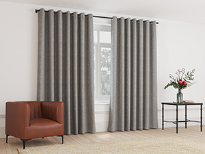 Blockout Curtain Eyelet Silver Grey - 230 x 218cm