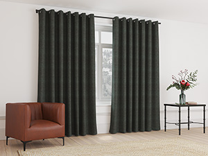 Blockout Curtain Eyelet Coal Grey - 230 x 218cm