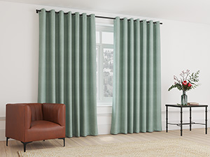Blockout Curtain Eyelet Duck Egg Green - 230 x 218cm