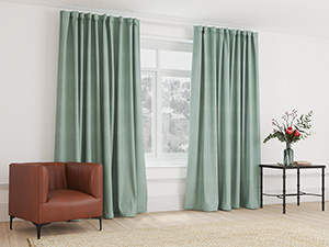 Blockout Curtain Taped Duck Egg Green - 265 x 250cm