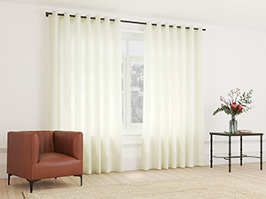 Sheer Curtain Eyelet Creamy White - 230 x 250cm