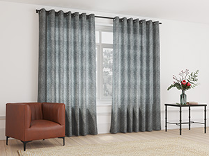 Sheer Curtain Eyelet Ash Grey - 230 x 250cm