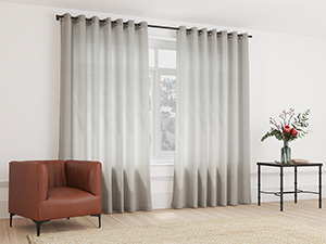 Sheer Curtain Eyelet Earthy Brown - 230 x 218cm