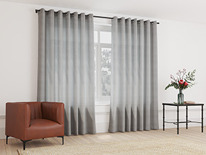 Sheer Curtain Eyelet Storm Grey - 230 x 218cm