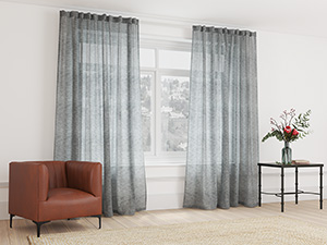 Sheer Curtain Taped Ash Grey - 265 x 250cm