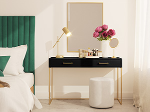 Dresser / Desk Lilo Satin Black