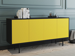 Server Atra  L Intense Black Yellow Doors