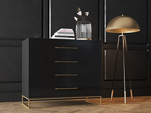 4 Drawer Server Lilo Satin Black