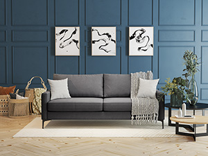 3 Seater Couch Urban  Dark Grey