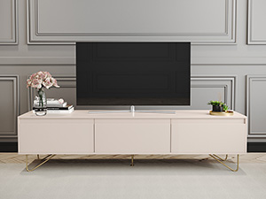 TV Cabinet Stylo Blush Pink