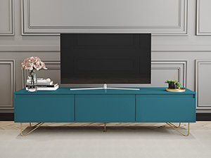 Hairpin TV Stand 3 Drawer Stylo Teal